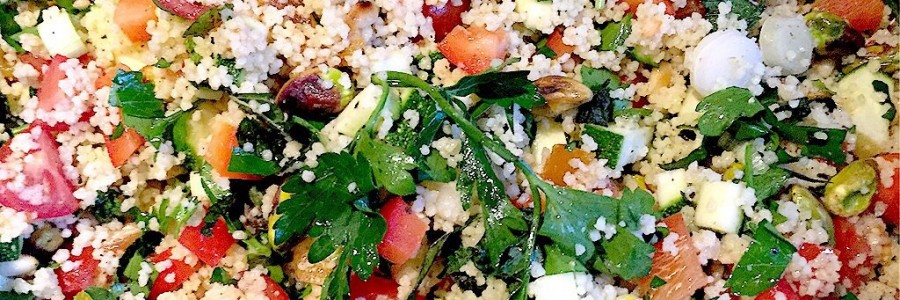 Nutty couscous and veggie salad